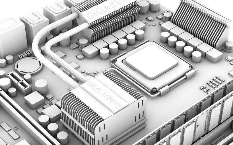 印刷电路板,电脑芯片,运算,合成图,储存,集成电路,二极管,漫画,母板