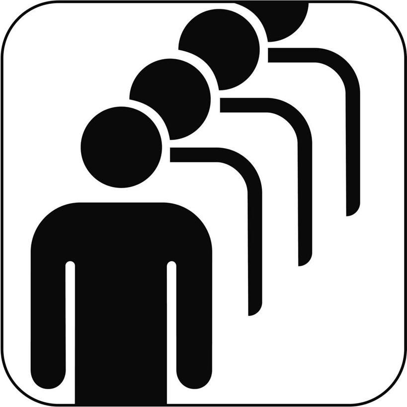 西方人,无人,四个人,站,方图,黑白,插画,室内,白天,白色背景,正面