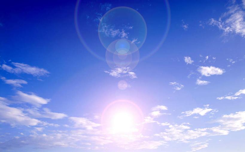 天空,阳光,自然,天,享受,休闲,景色,放松,晴朗,气象,环形,自然风光