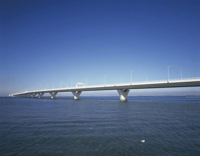 桥梁道路手绘彩图