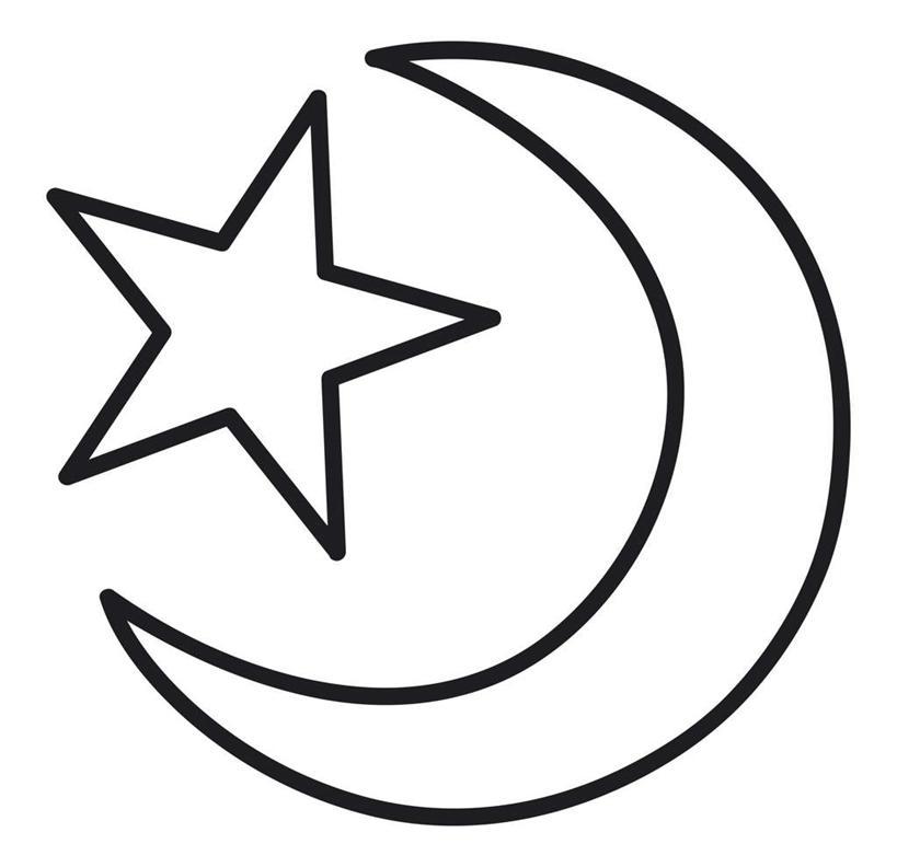 黑白卡通素材五角星
