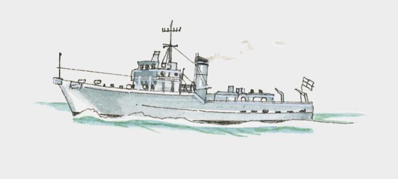 航空母舰 手绘插画