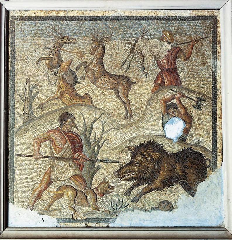 成年人,三个人,跑,竖图,室内,狗,鹿,野生动物,花纹,图案,古罗马,摄影