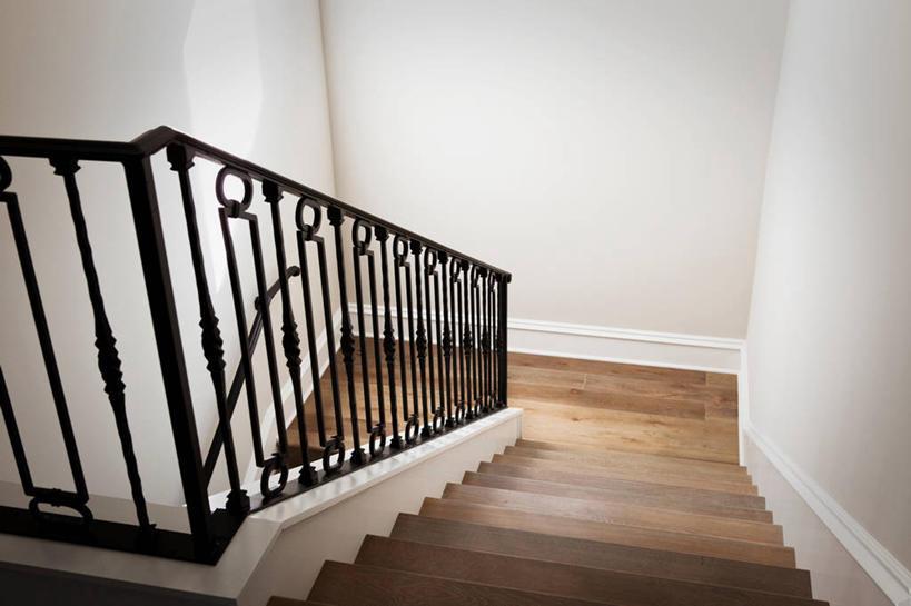 無人,家,欄桿,橫圖,室內,樓梯,建筑,木制,扶手,階梯,護欄,臺階,建造