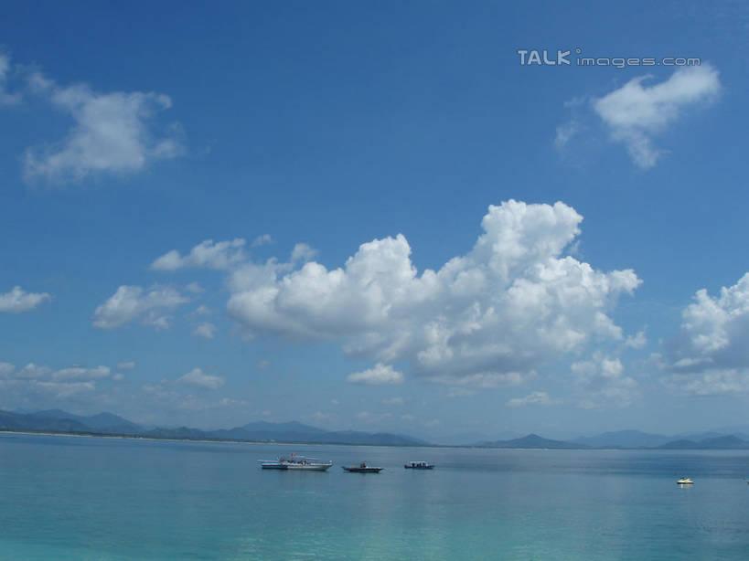 蓝色,白云,蓝天,天空,阳光,自然,海水,天,享受,休闲,景色,放松,海南省