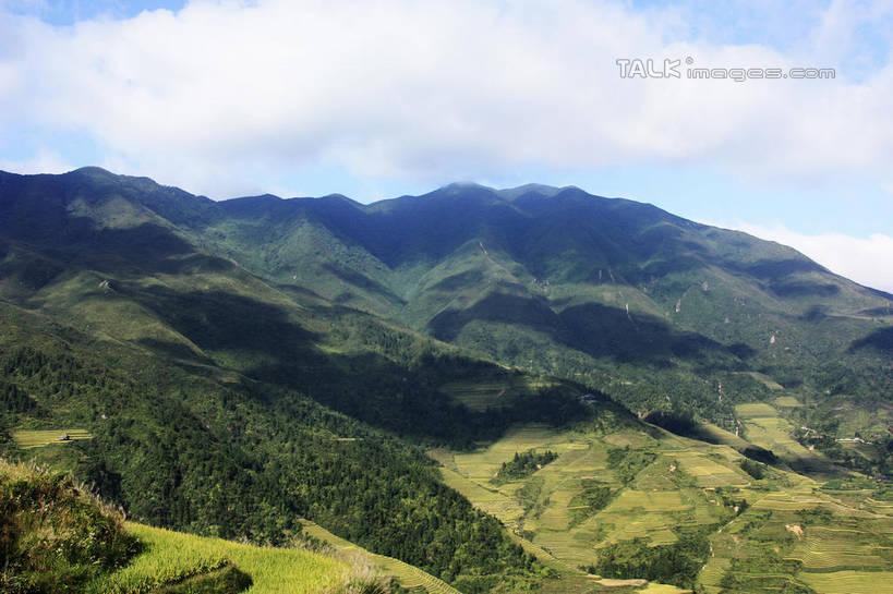 俯视,室外,白天,旅游,度假,庄稼,梯田,农作物,石头,美景,山,山脉,树林