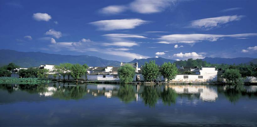 天空,自然,群山,享受,休闲,远景,旅游胜地,景色,放松,摄影,水乡,古代