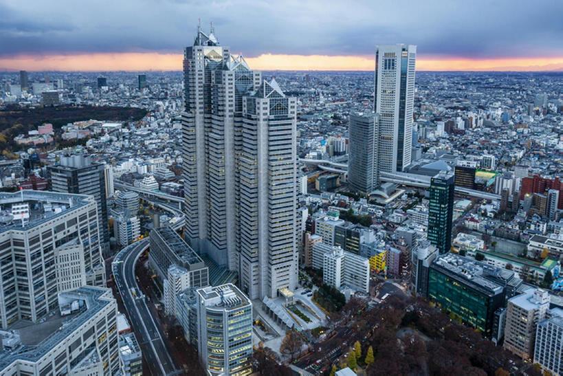高楼大厦,横图,室外,东京,日本,都市,风景,天空,黄昏,建造,池袋,bj175